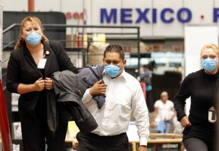 Profilaxis en el aeropuerto de Mejico