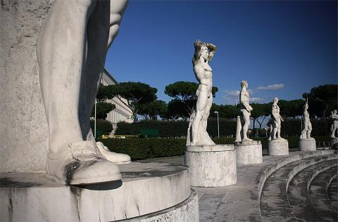 Paseando por la Villa Olímpica romana