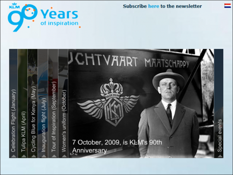 KLM celebra su 90 cumpleaños