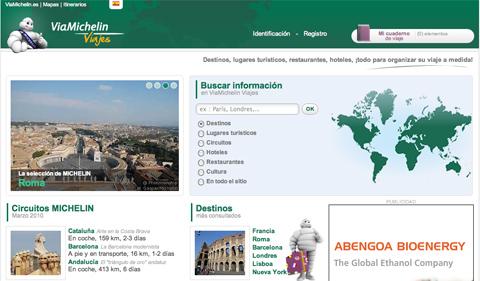 Viajes.ViaMichelin, nueva plataforma online para el turista
