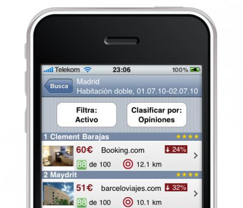 Trivago se suma a las aplicaciones para el iPhone_