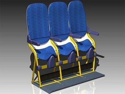 Presentado un prototipo de asiento para volar medio de pie