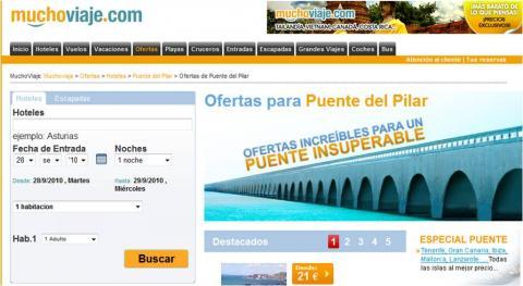 Ofertas especiales de MuchoViaje para el Puente del Pilar