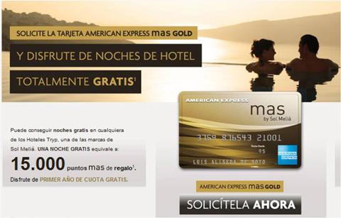 Con la American Express mas Gold noches de hotel gratis