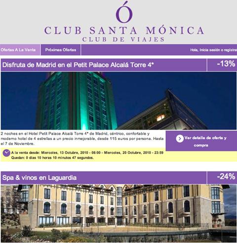Nace Club Santa Mónica, agencia online de venta privadas