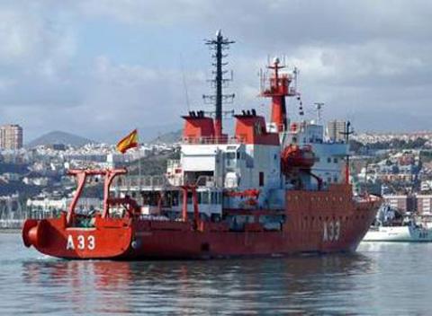 El Hespérides parte de Cartagena en misión científica