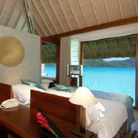 El hotel con las mejores vistas desde la habitación está en Bora Bora