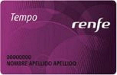 Tempo, nueva tarjeta de fidelización de Renfe