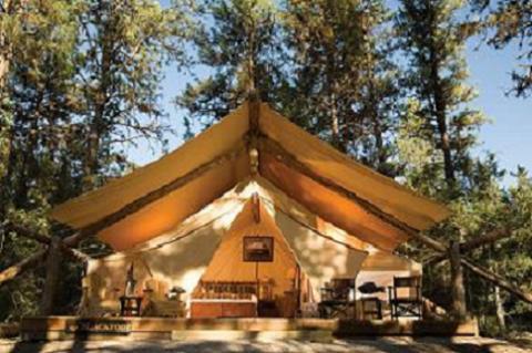 Glamping, acampadas de cinco estrellas