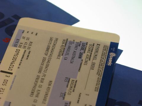 Baja la venta de billetes de avión