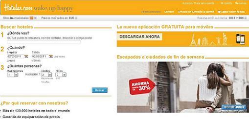 Hoteles.com premiado como mejor portal