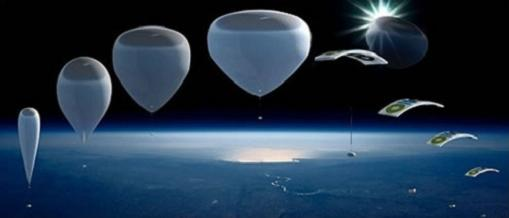 Viajar en globo al espacio