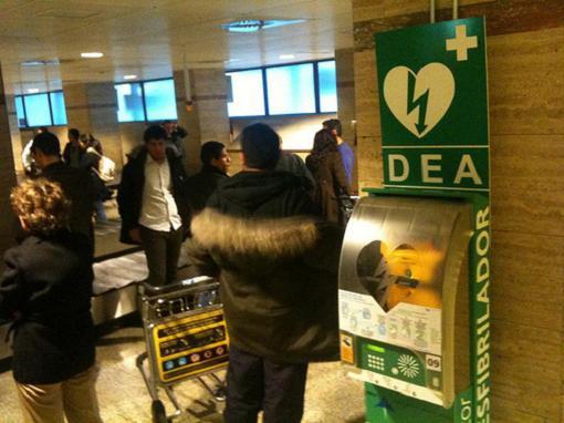 Desfibriladores en los aeropuertos