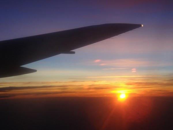 paisaje avion volando