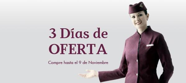 Interesante promoción de Qatar Airways