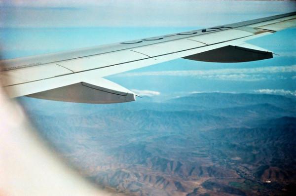 Imagen del ala de un avión