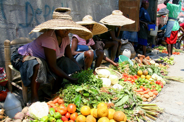 Mercado en Haiti