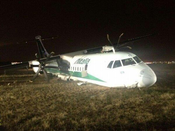 Accidente de avión en Italia