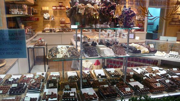 Venta de chocolates en Belgica