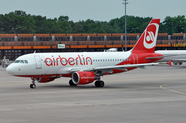 Imagen de un avion de Airberlin