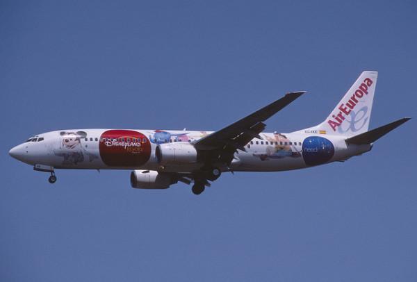 Imagen de un avion de Air Europa